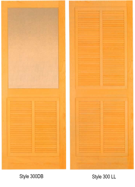 Wood Screen Doors With Removable Screens : Wood screen door styles from paul argoe with