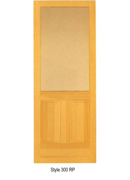 Natural wood combination screen doors for Door and screen door combo