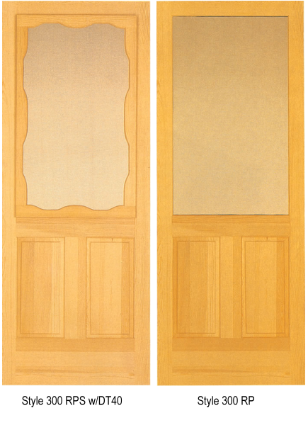 Natural wood storm doors for Door and screen door combo